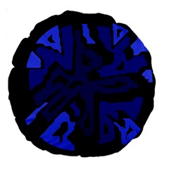 Deep blue abstraction Large 18  Premium Round Cushions