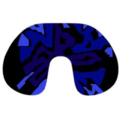 Deep blue abstraction Travel Neck Pillows