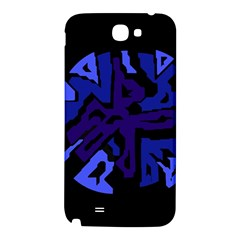 Deep blue abstraction Samsung Note 2 N7100 Hardshell Back Case