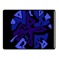 Deep blue abstraction Double Sided Fleece Blanket (Small)