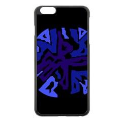 Deep blue abstraction Apple iPhone 6 Plus/6S Plus Black Enamel Case