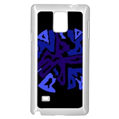 Deep blue abstraction Samsung Galaxy Note 4 Case (White)
