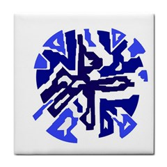 Deep blue abstraction Tile Coasters
