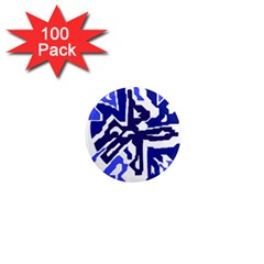 Deep blue abstraction 1  Mini Magnets (100 pack)