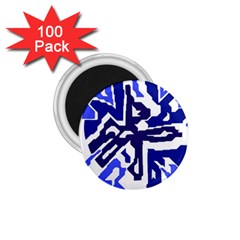 Deep blue abstraction 1.75  Magnets (100 pack)