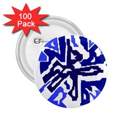 Deep blue abstraction 2.25  Buttons (100 pack)