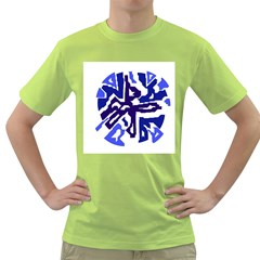 Deep blue abstraction Green T-Shirt