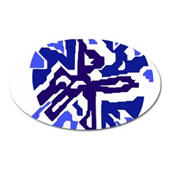 Deep blue abstraction Oval Magnet