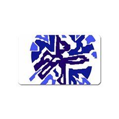 Deep blue abstraction Magnet (Name Card)