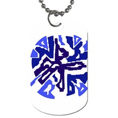 Deep blue abstraction Dog Tag (One Side)