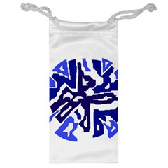 Deep blue abstraction Jewelry Bags