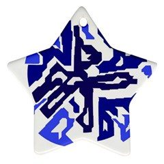 Deep blue abstraction Star Ornament (Two Sides)