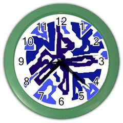 Deep blue abstraction Color Wall Clocks
