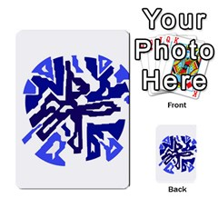 Deep blue abstraction Multi-purpose Cards (Rectangle)