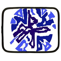 Deep blue abstraction Netbook Case (Large)