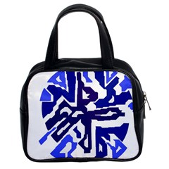 Deep blue abstraction Classic Handbags (2 Sides)