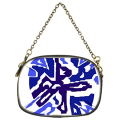 Deep blue abstraction Chain Purses (One Side)