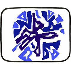 Deep blue abstraction Double Sided Fleece Blanket (Mini)