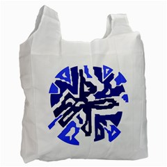 Deep blue abstraction Recycle Bag (Two Side)