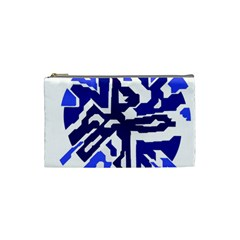 Deep blue abstraction Cosmetic Bag (Small)