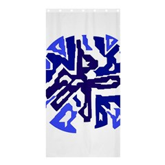 Deep blue abstraction Shower Curtain 36  x 72  (Stall)