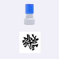 Deep blue abstraction Rubber Round Stamps (Small)