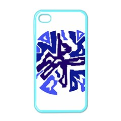 Deep blue abstraction Apple iPhone 4 Case (Color)