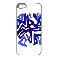 Deep blue abstraction Apple iPhone 5 Case (Silver)