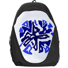 Deep blue abstraction Backpack Bag