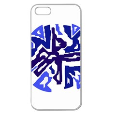Deep blue abstraction Apple Seamless iPhone 5 Case (Clear)