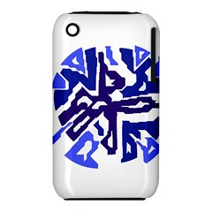 Deep blue abstraction Apple iPhone 3G/3GS Hardshell Case (PC+Silicone)