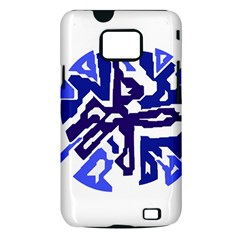 Deep blue abstraction Samsung Galaxy S II i9100 Hardshell Case (PC+Silicone)