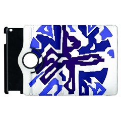 Deep blue abstraction Apple iPad 2 Flip 360 Case