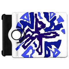 Deep blue abstraction Kindle Fire HD Flip 360 Case