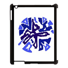 Deep blue abstraction Apple iPad 3/4 Case (Black)