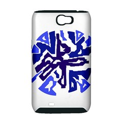 Deep blue abstraction Samsung Galaxy Note 2 Hardshell Case (PC+Silicone)