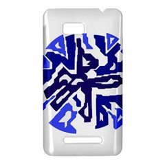 Deep blue abstraction HTC One SU T528W Hardshell Case