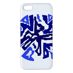 Deep blue abstraction Apple iPhone 5 Premium Hardshell Case