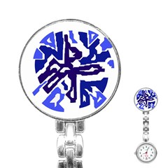 Deep blue abstraction Stainless Steel Nurses Watch