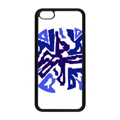 Deep blue abstraction Apple iPhone 5C Seamless Case (Black)