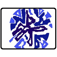 Deep blue abstraction Double Sided Fleece Blanket (Large)