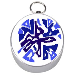 Deep blue abstraction Silver Compasses