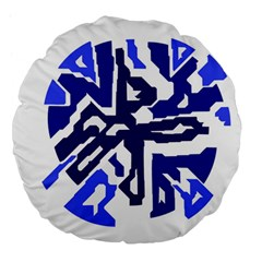 Deep blue abstraction Large 18  Premium Flano Round Cushions