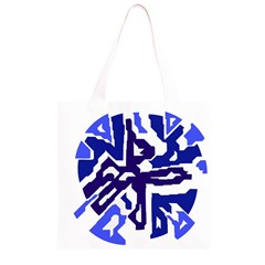 Deep blue abstraction Grocery Light Tote Bag