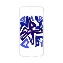 Deep blue abstraction Apple Seamless iPhone 6/6S Case (Transparent)