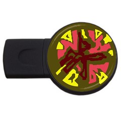 Abstraction USB Flash Drive Round (4 GB)
