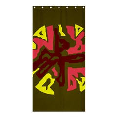 Abstraction Shower Curtain 36  x 72  (Stall)