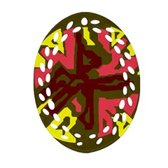 Abstraction Oval Filigree Ornament (2-Side)