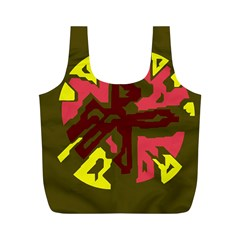 Abstraction Full Print Recycle Bags (M)