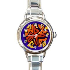 Orange ball Round Italian Charm Watch